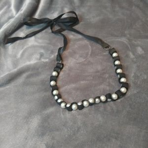 Torrid Ribbon and Pearl Necklace